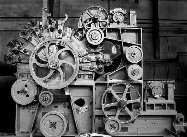 Kardiermaschine. Photograph by massenpunkt.